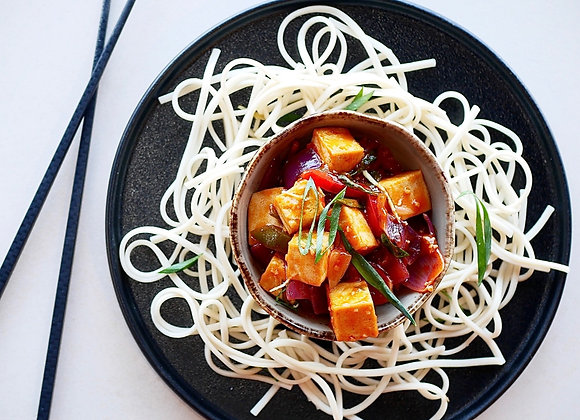 Stir-fried Tofu & Udon noodles