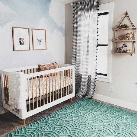 #NurseryGoals - Modern Sky Baby Nursery