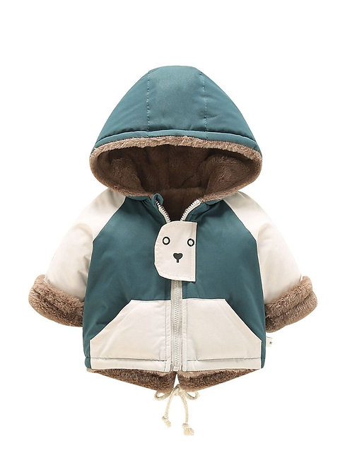 MYLES BEAR HOODED COAT (MULTIPLE COLORS)