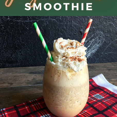Gingerbread Smoothie | Mom Snack Break Recipe
