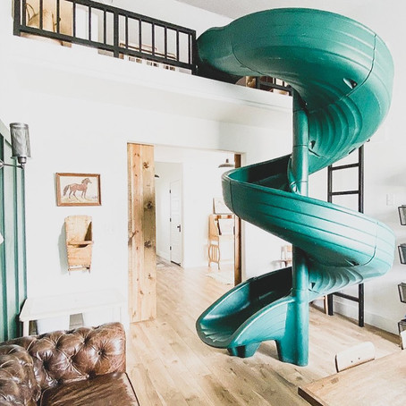 #PlayroomGoals - Green Indoor Slide Playroom