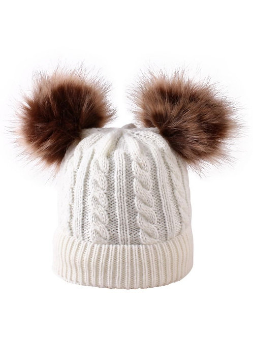 PAX POM POM CABLE KNIT BEANIE (MULTIPLE COLORS)
