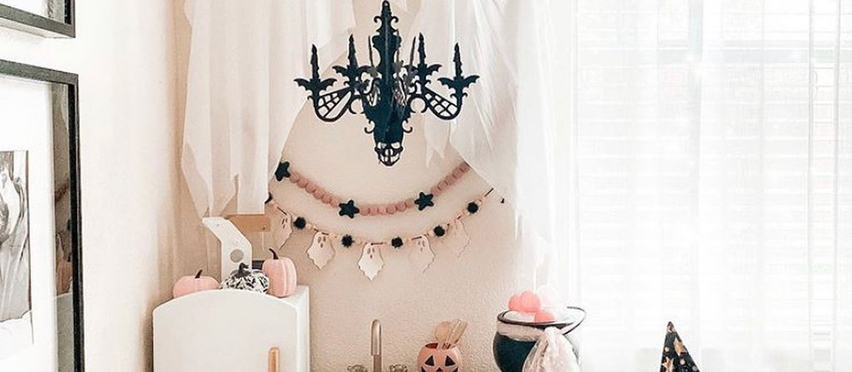 #PlayroomGoals - Ghouls + Chandeliers Playroom - Halloween Decorations For Kids
