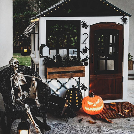 #PlayroomGoals - Chill Skeleton Playhouse - Halloween Decorations For Kids