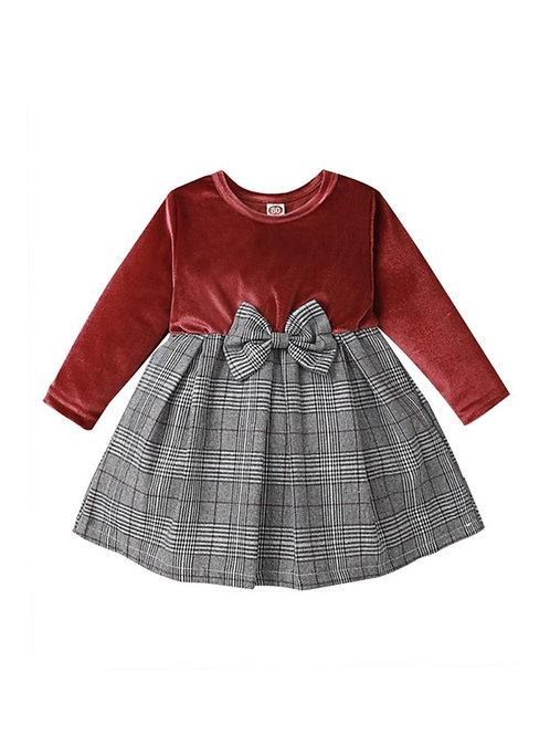 ISABELLA PLAID BOW DRESS (MULTIPLE COLORS)