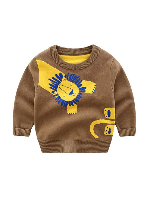 HENRY LION KNIT SWEATER
