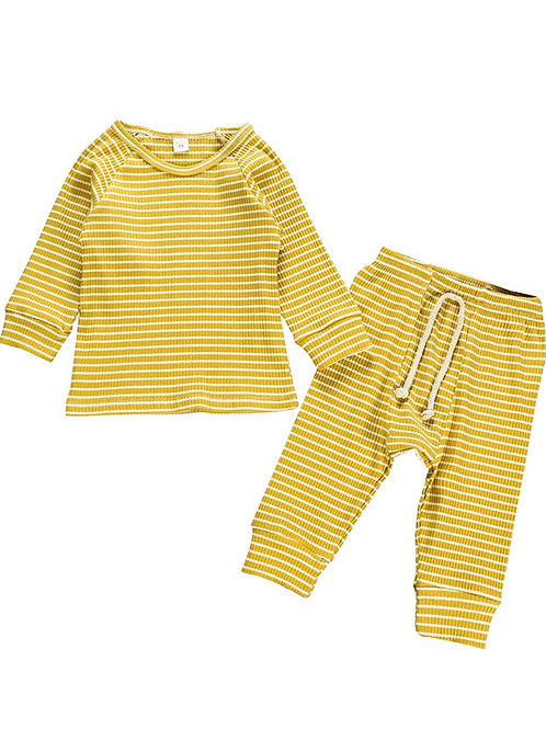 MARLEY STRIPED TWO-PIECE SET - YELLOW