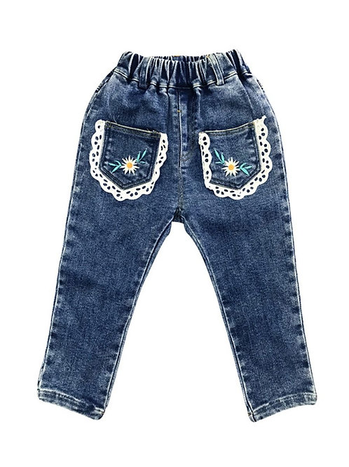DOLLY FLOWER LACE POCKET JEANS