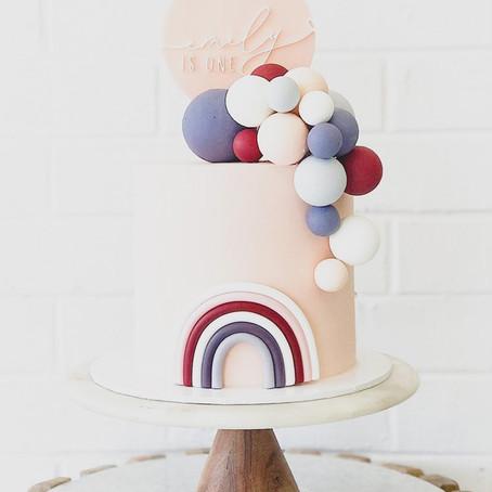 Baby's 1st Birthday Party Inspiration - Rainbow Smash Cake