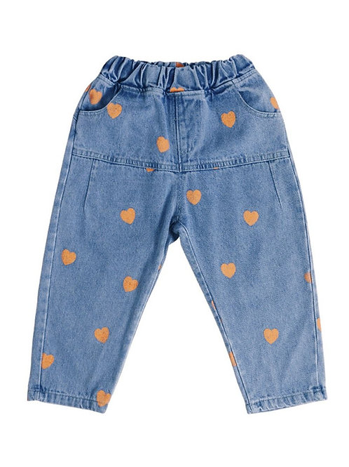 SCATTERED HEART JEANS (MULTIPLE COLORS)