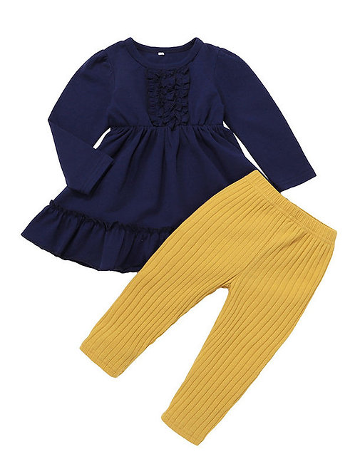 BILLIE BLU RUFFLE TUNIC + PANT SET