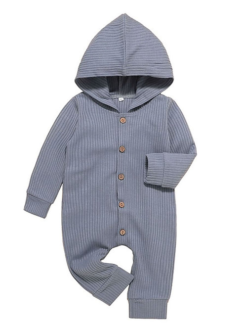 OLLIE BASIC HOODED ROMPER (MULTIPLE COLORS)