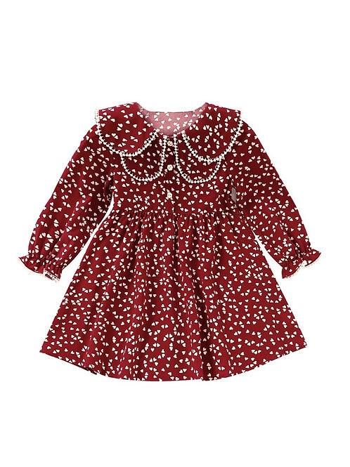 RUBY HEART DOLL COLLAR DRESS
