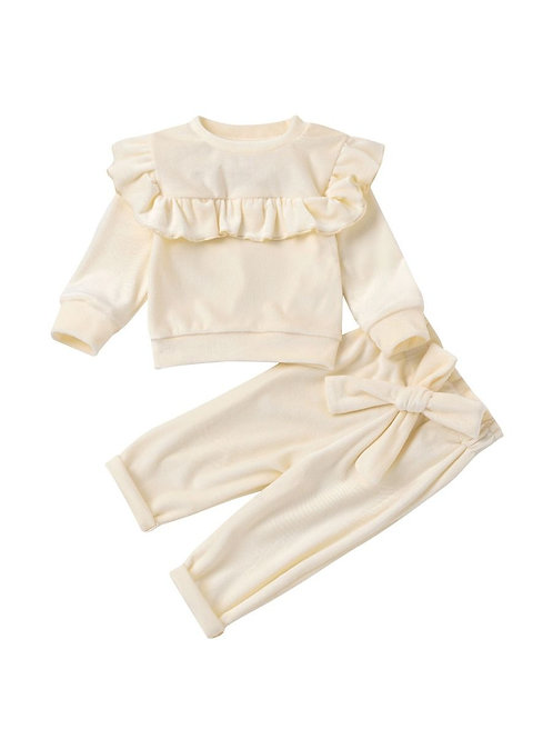 ASTRID RUFFLES + BOWS TWO-PIECE SET (MULTIPLE COLORS)
