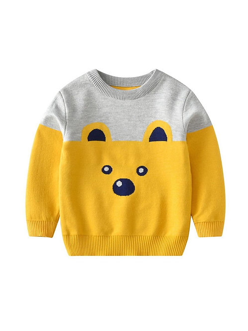 BEARY CUTE KNIT SWEATER (MULTIPLE COLORS)