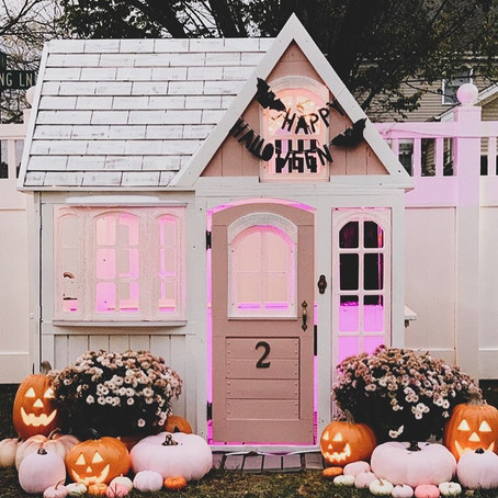 #PlayroomGoals - Pink Pumpkin Playhouse - Halloween Decorations For Kids