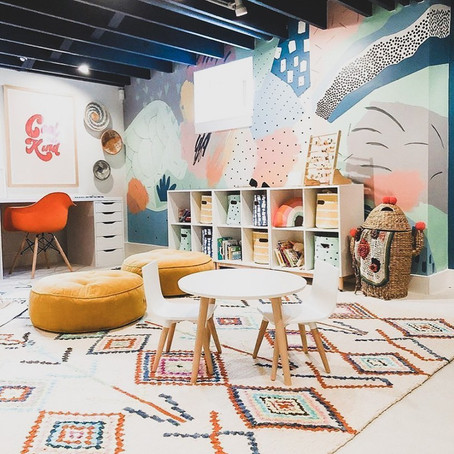 #PlayroomGoals - Colorful Boho Playroom