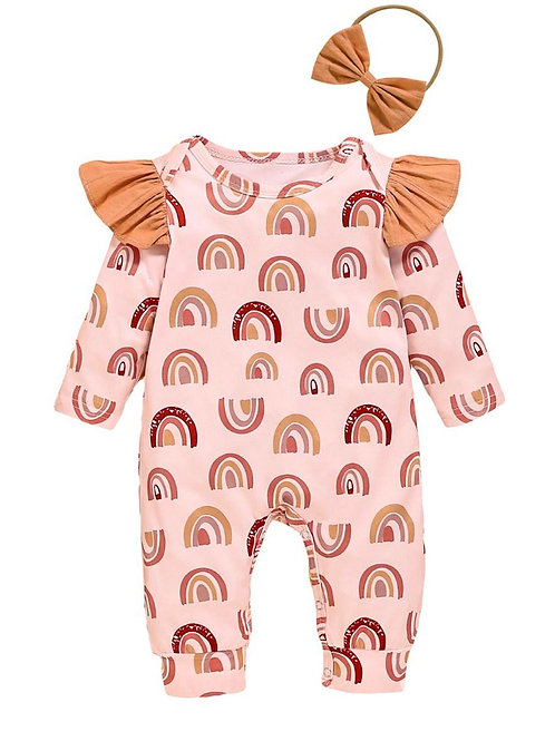 ROSIE RAINBOW ROMPER + HEADBAND SET