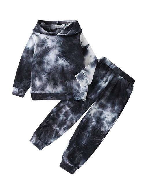 CHILL TIE-DYE TWO-PIECE PANT HOODIE SET