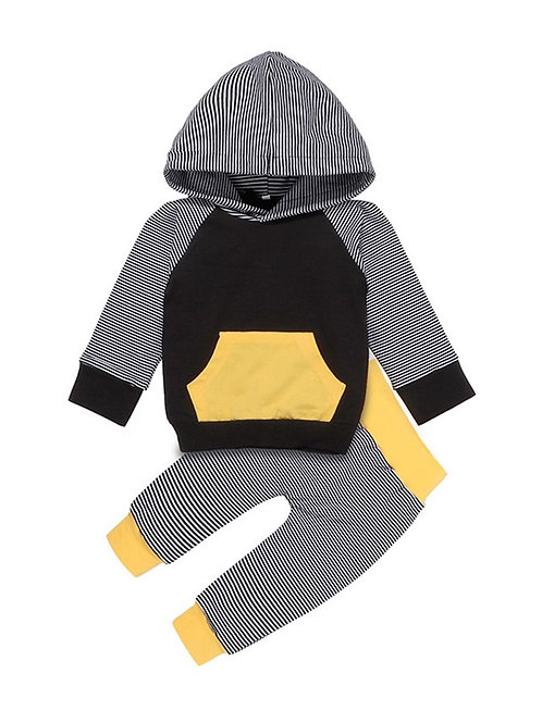 STEPHEN STRIPE TWO-PIECE HOODED PANT SET
