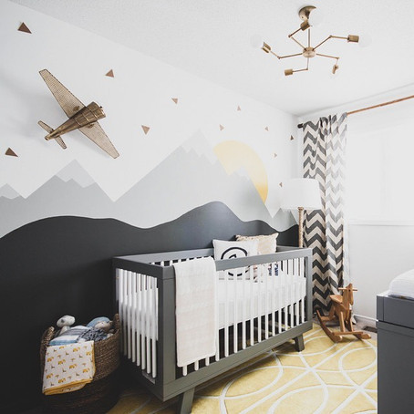 #NurseryGoals - Modern Mountain Baby Nursery