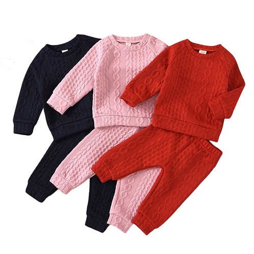 BAILEIGH CABLE KNIT TWO-PIECE SETS