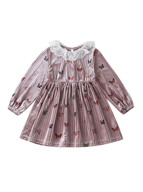 BUTTERFLY KISSES LACE COLLAR DRESS