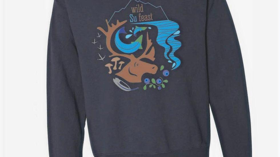 Anchor Slate Crew Neck Sweatshirt - Wild Su Feast