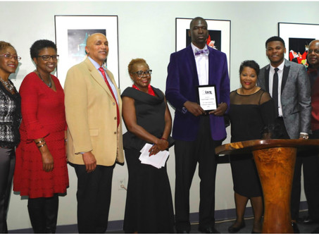 Isiah Venning honored at the 2nd Annual BELL Holiday Social