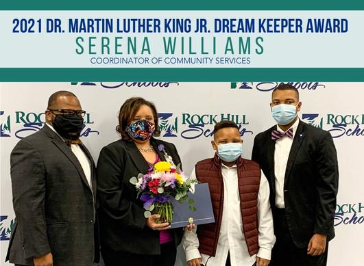 Serena Accepts Award