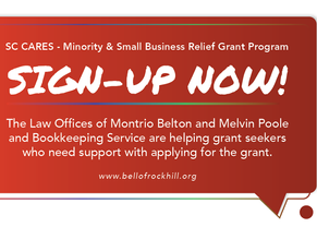 SC CARES - Minority & Small Business Relief Grant Assistance Sign-up Now!