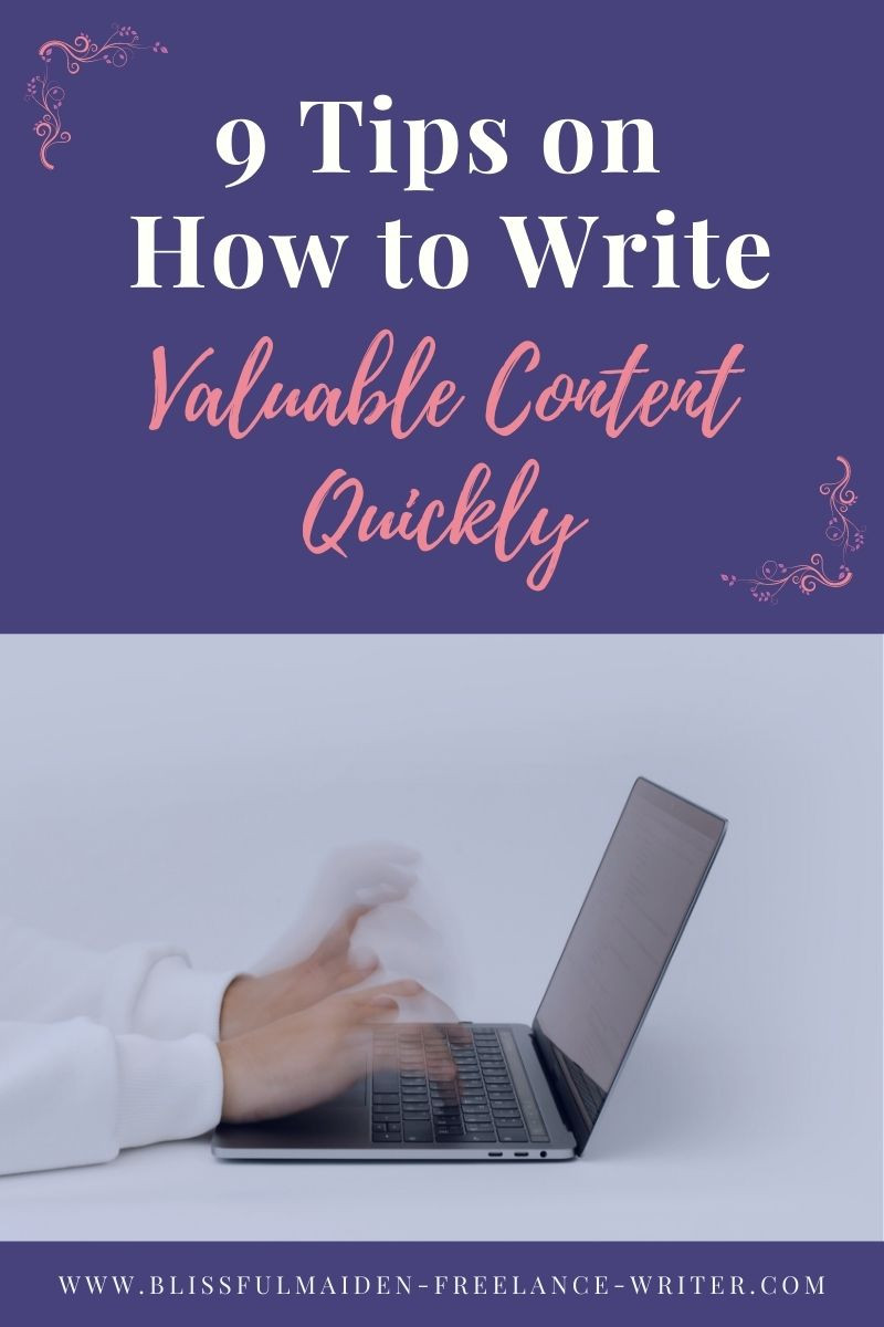 Typing fast can literally make you write valuable content quickly