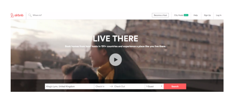 Live There Website Copy by Airbnb