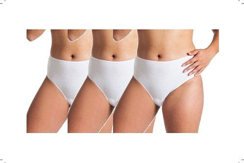 3 - Packung Damen Taillen-Slip weiss