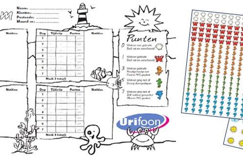 Scorekarte mit Kleber