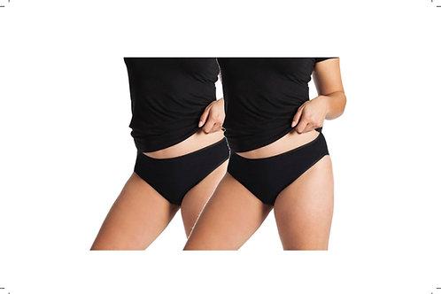 2-Packung Damen Hüft-Slip schwarz