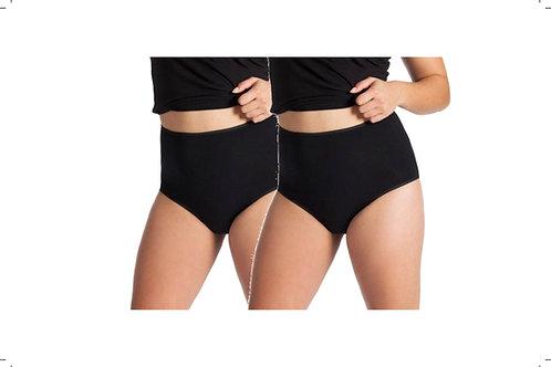 2-Packung Damen Maxi-Slip schwarz