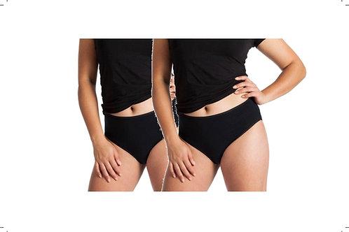 2-Packung Damen Taillen-Slip schwarz