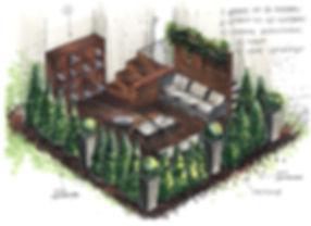 Эскиз террасы на придомовой территории
