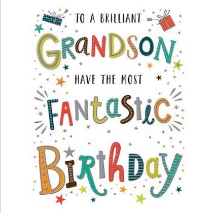 Birthday - Grandson