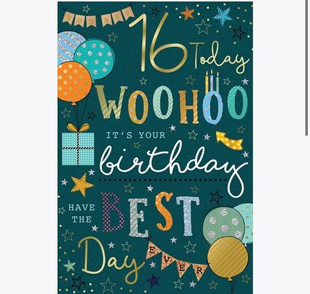 Birthday - Age 16