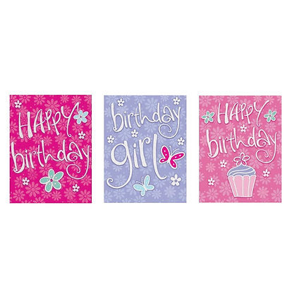 Pack of 3 Female Birthday Cards
