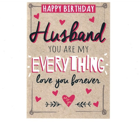 Birthday - Husband