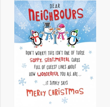 Christmas - Neighbours