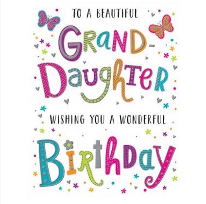Birthday - Granddaughter