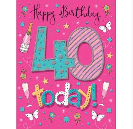 Pizzaz Range - Birthday - Age 40