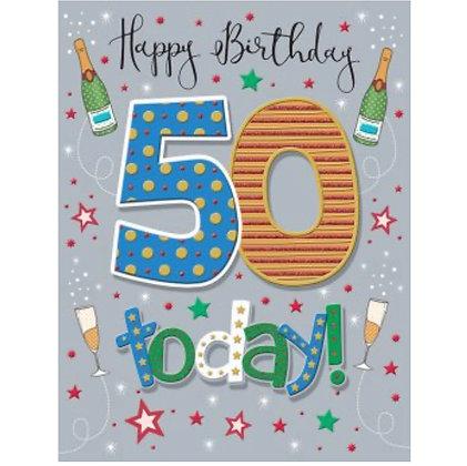 Pizzaz Range - Birthday - Age 50
