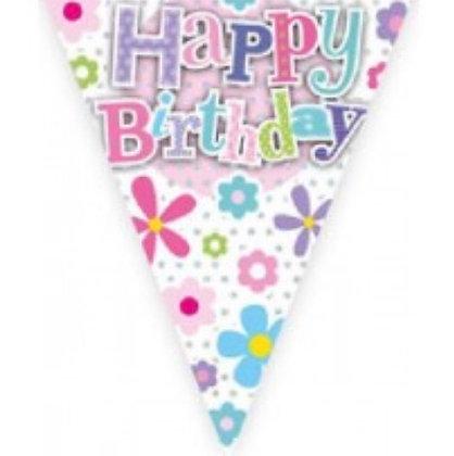 Bunting - Flower happy Birthday
