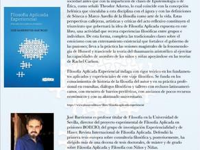 Presentación libro profesor Barrientos. Filosofía aplicada experiencial.