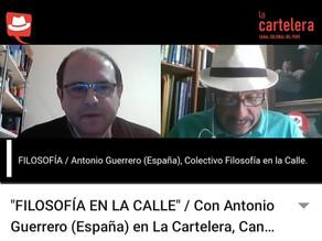 TV Cartelera Perú. Antonio Guerrero
